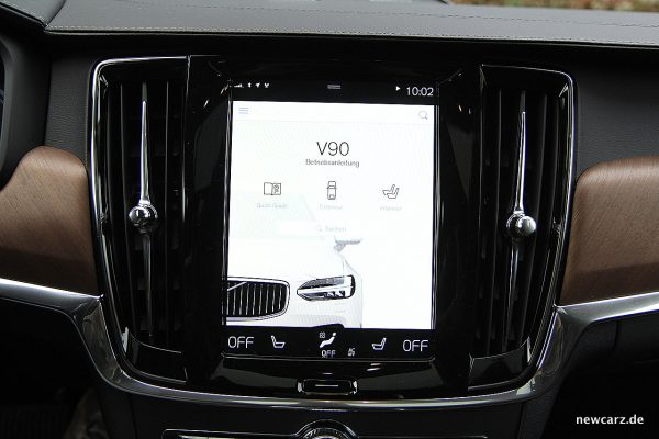 Volvo V90 T8 Twin Engine Bildschirm