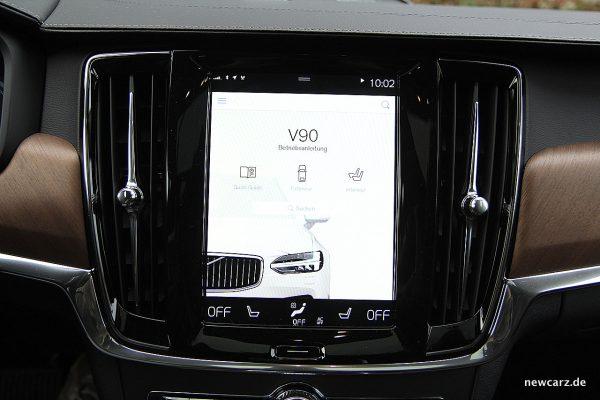 Volvo V90 T8 Twin Engine Bildschirm