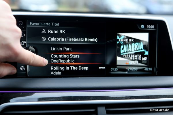 BMW Online Entertainment Touchscreen