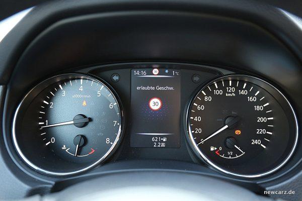 Nissan X-Trail Verkehrszeichenerkennung