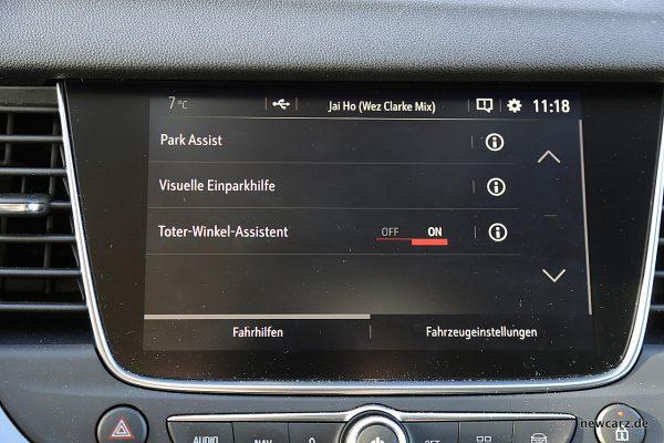 Opel Grandland X Fahrhilfen