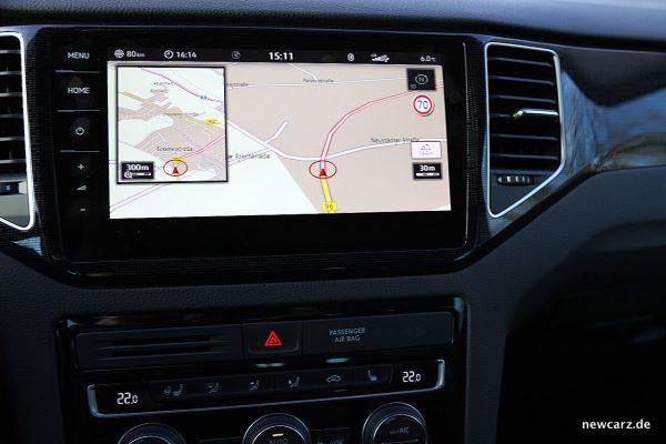 VW Golf Sportsvan Bildschirm