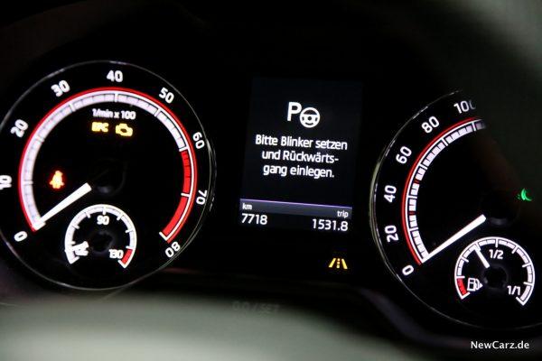 Skoda Octavia RS245 Parklenkassistent