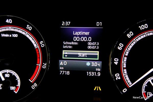 Skoda Octavia RS245 Laptimer