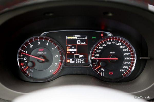 Subaru WRX STI Tacho