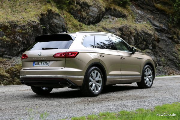 VW Touareg Heck Seite
