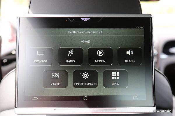 Bentley Bentayga Diesel Rear Entertainment