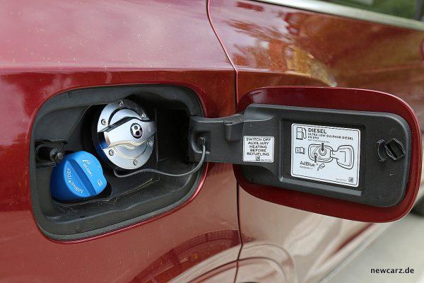 Bentley Bentayga Diesel Tankstutzen