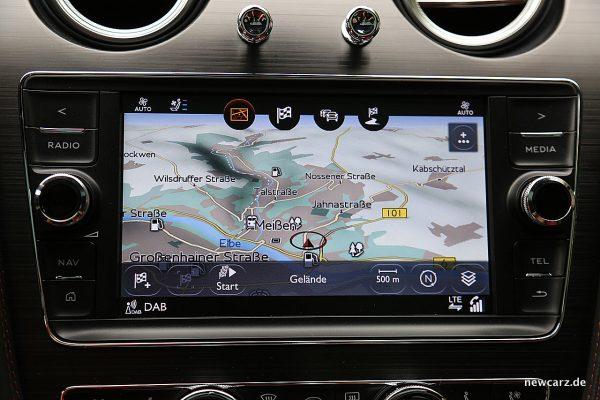 Bentley Bentayga Diesel Navigationssystem