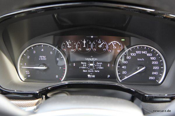 Cadillac XT5 Tacho