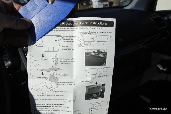 Subaru Forester 2018 Anleitung EyeSight-Kamera
