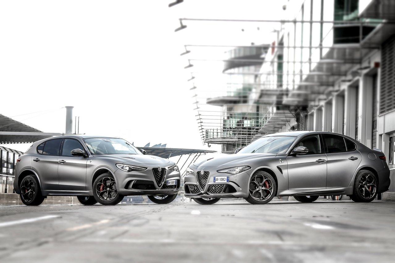 Alfa Romeo Sondermodelle im edlen Design: Alfa Romeo Giulia Quadrifoglio NRING und Alfa Romeo Stelvio NRING