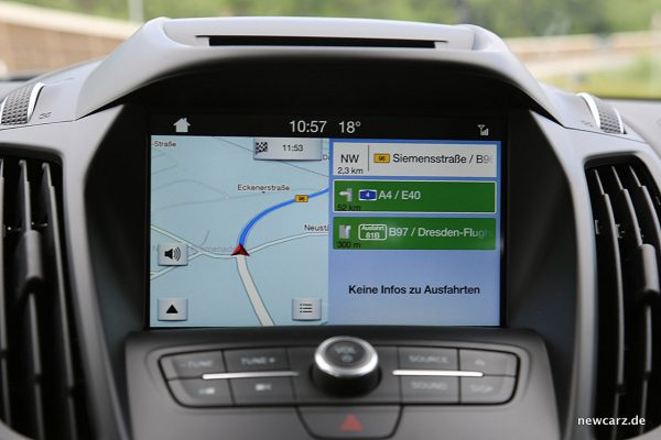 Ford Kuga Vignale Touchscreen