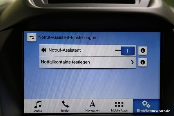 Ford Kuga Vignale Notrufassistent