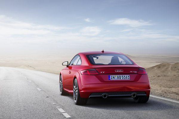 Heckansicht des Audi TT Coupés