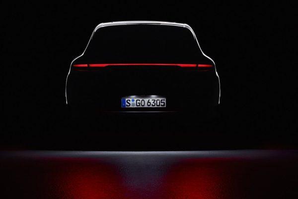 Heckansicht des neuen Porsche Macan