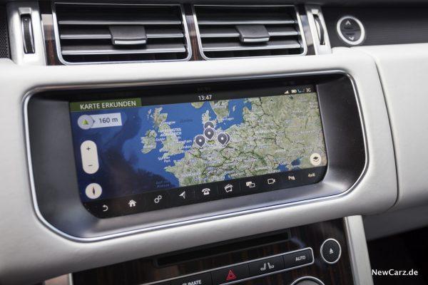 Range Rover SDV8 Touchscreen