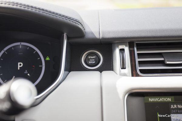 Range Rover SDV8 Startknopf