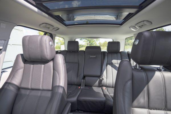Range Rover SDV8 Platzangebot