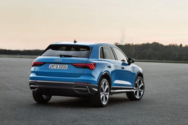 Heckansicht des Audi Q3