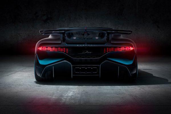 Heckansicht des Bugatti Divo