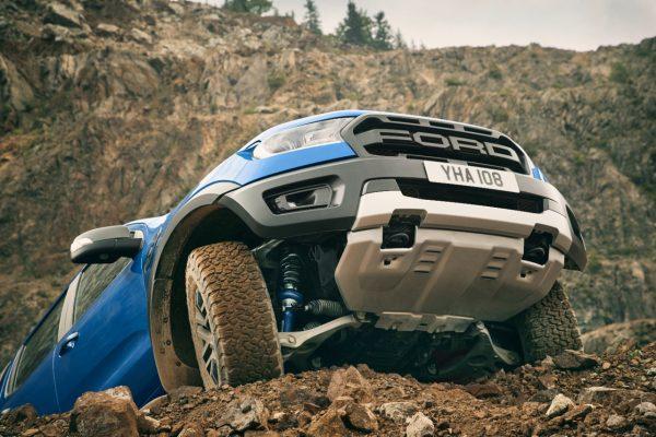 Frontansicht des Ford Ranger Raptor