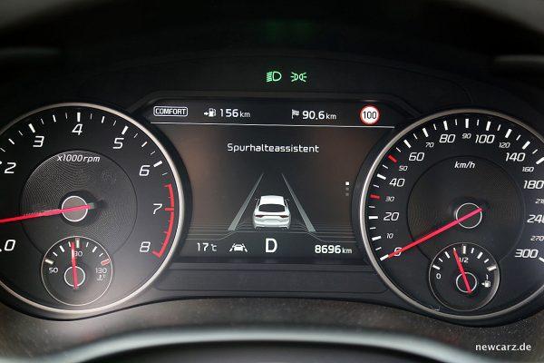 Kia Stinger GT Spurhalteassistent