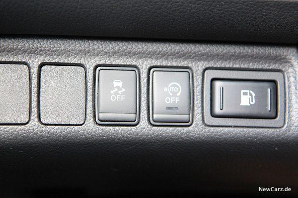Nissan Navara ESP-Knopf