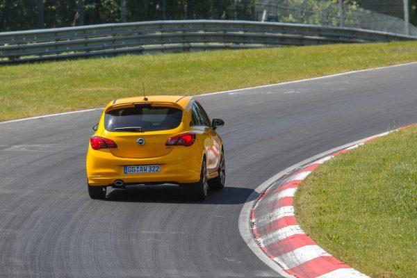 Heckansicht des Opel Corsa GSi