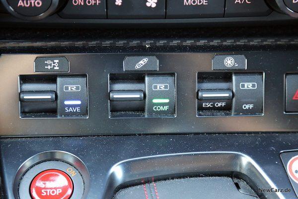 Nissan GT-R Track Edition Fahrmodusschalter