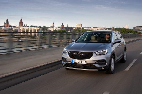 Frontansicht des Opel Grandland X