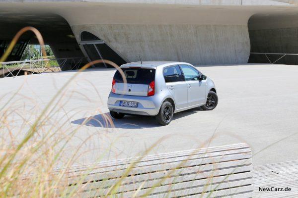 Seat Mii Ecofuel schräg hinten oben