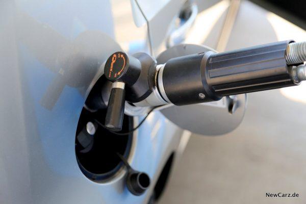Seat Mii Ecofuel Tankvorgang