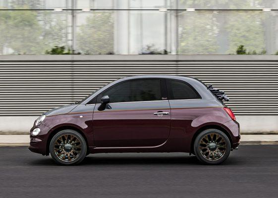 Seitenansicht des Fiat 500 Collezione