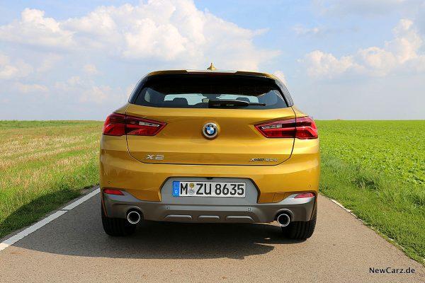 BMW X2 Heck