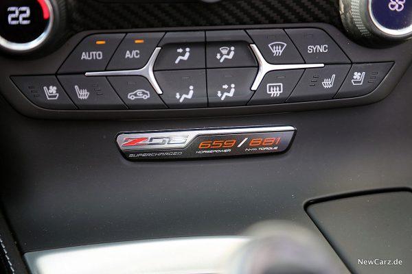 Corvette Z06 Cabriolet Plakette