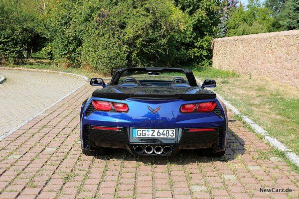 Corvette Z06 Cabriolet Heck schräg oben