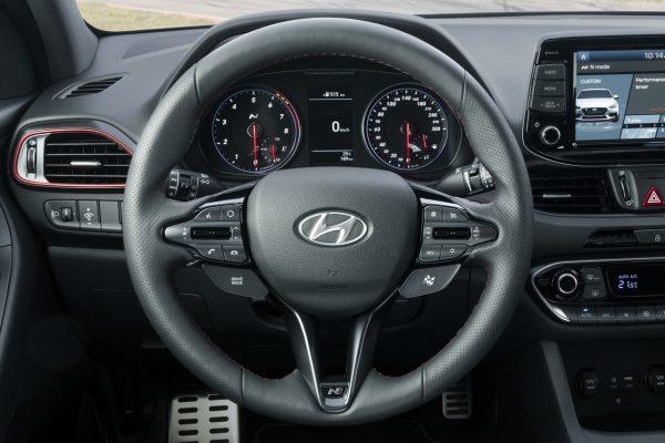 Interieur des Hyundai i30 Fastback N