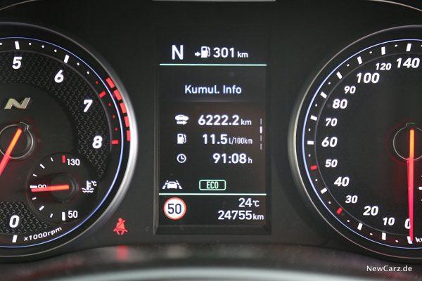 Hyundai i30 N Performance Verbrauch