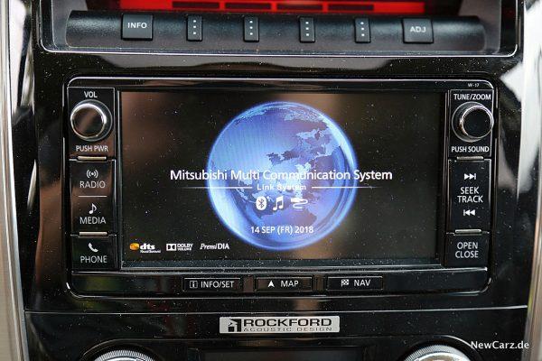 Mitsubishi Pajero Screen