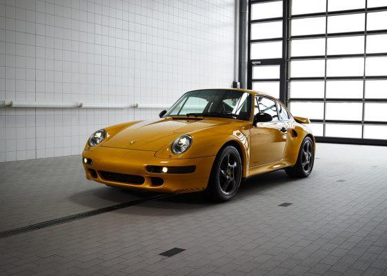 Frontansicht des neuen Porsche 911 Turbo Classic