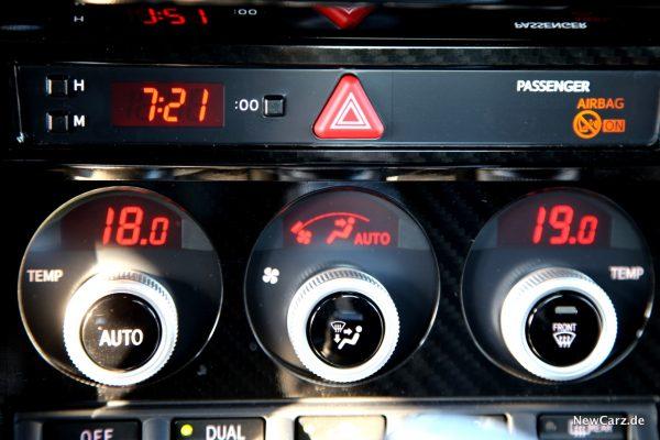 Subaru BRZ Klimaautomatik
