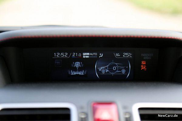 Subaru WRX STi Neigungswinkelanzeige