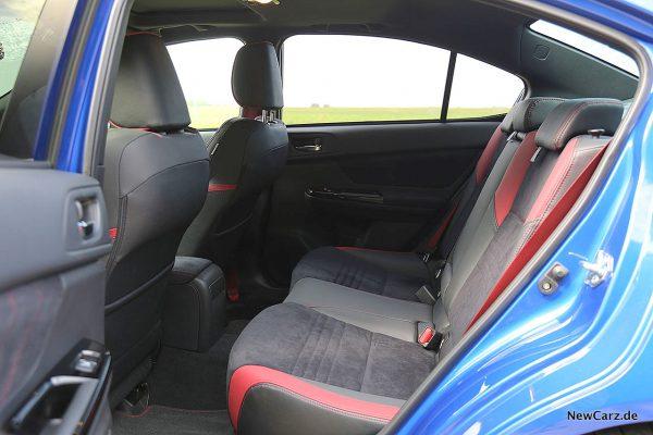 Subaru WRX STi Rücksitze