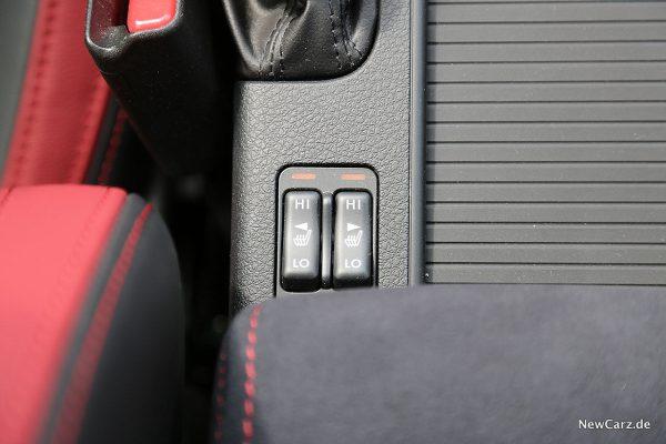 Subaru WRX STi Sitzheizung