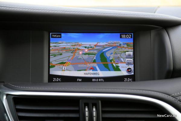 Infiniti QX30 Navigationssystem