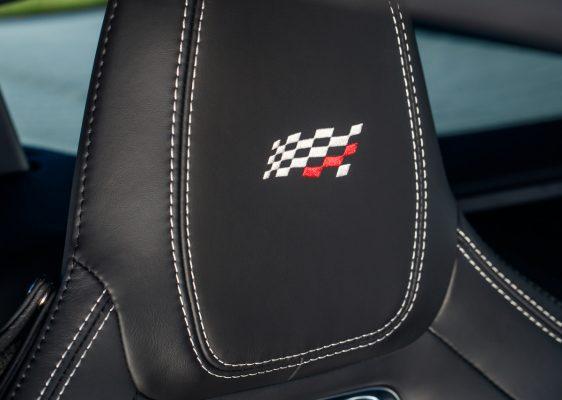 Kopfstütze des Jaguar F-Type Chequered Flag