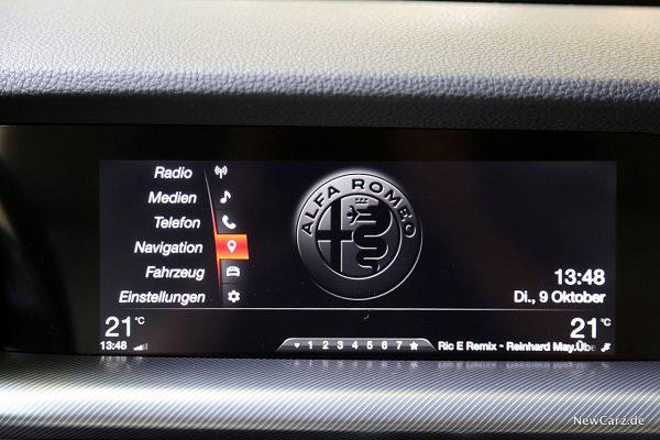 Alfa Romeo Stelvio Bildschirm