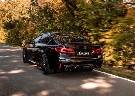 Heckansicht des BMW M5 G-Power