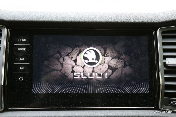 Skoda Kodiaq Scout Touchscreen Start